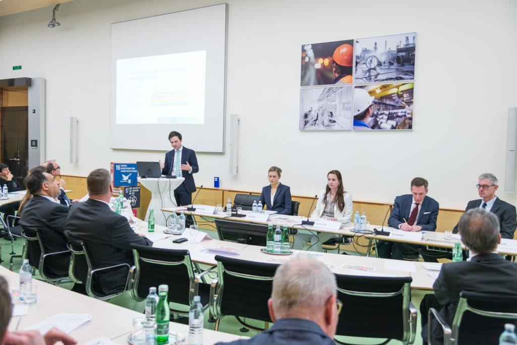 Diskussionsrunde bei der Veranstaltung Global Goals for Business in der Industriellenvereinung am 24. Jänner 2018.
