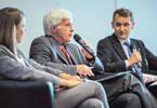 Forum Wirtschaft & Entwicklung mit Dieter Euler (Mitte)