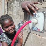 Pay-as-you-drink: Eine funktionierende Wasserzapfstelle in maximal 100 Metern Entfernung von jedem Haus im Dorf – das will eWaterPay möglich machen.