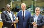 Partner seit 2010: Dogbo-Bürgermeister V. Acakpo (l.) und H. Kindt (r.), Stadtrat von Roeselare