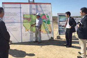 Projektanbahnung: Präsentation einer Sonderwirtschaftszone vor JICA-Experten in Vietnam