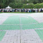 Weltrekord: 5.388 als LED-Lampe angeordnete Eierkartons als Symbol für mehr als 5.000 Ideen, die unter dem Dach des steirischen Green Technologie Clusters bereits entwickelt wurden