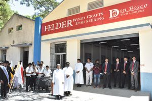 Eröffnung der Felder-Werkstätte am Don Bosco Technical Campus im September 2018