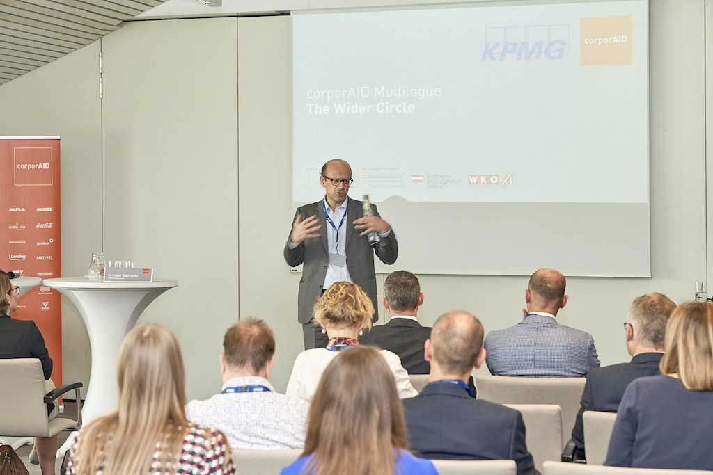 Welcome by Bernhard Weber, Managing Director ICEP, at corporAID Multilogue: The Wider Circle on the 12. September 2019 in Vienna