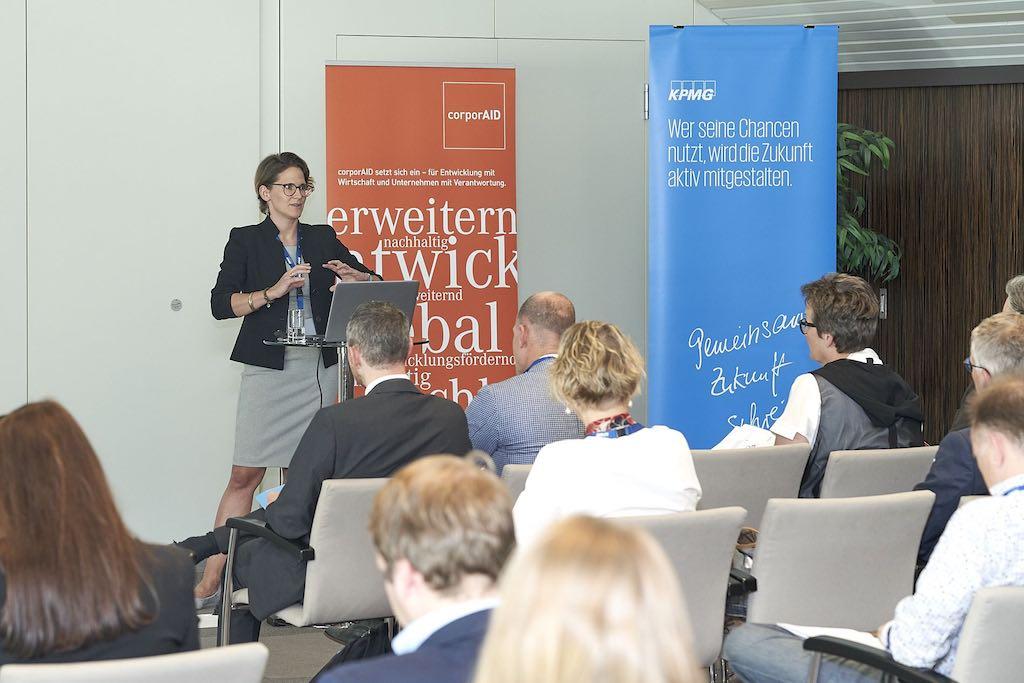 Sophie Langer-Hansel beim corporAID Multilogue: The Wider Circle am 12. September 2019 in Wien
