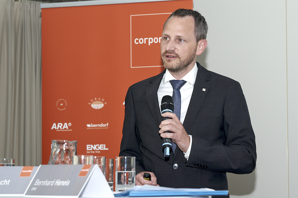 Bernhard Heneis (OMV) beim corporAID Multilogue: The Wider Circle am 12. September 2019 in Wien.