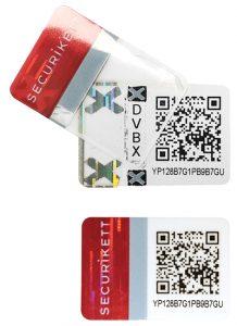 Erstöffnungshinweis: Beim Abziehen verändern Sicherheitsetiketten ihr Druckbild und hinterlassen einen Effekt auf der Verpackung.