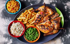 The African restaurant chain Nando`s specializes in piri piri chicken.