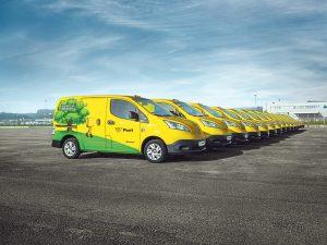 Klimaschutz bei der Post: Die Österreichische Post besitzt die derzeit größte E-Flotte des Landes.
