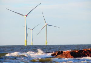Powerful: wind farms in the sea