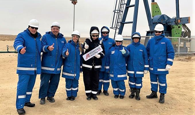 Ölfeld in Zentralasien